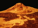 Volcano Erupting on the Surface of Venus