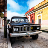 ¡Viva Mexico! Square Collection - Old Jeep in the street of San Cristobal
