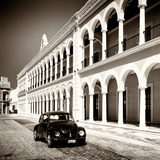 ¡Viva Mexico! Square Collection - Black VW Beetle in Campeche II