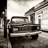 ¡Viva Mexico! Square Collection - Old Jeep in the street of San Cristobal III