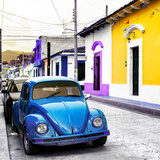 ¡Viva Mexico! Square Collection - Blue VW Beetle Car in San Cristobal