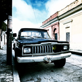 ¡Viva Mexico! Square Collection - Old Jeep in the street of San Cristobal IV