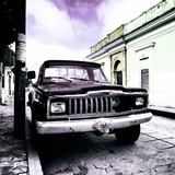 ¡Viva Mexico! Square Collection - Old Jeep in the street of San Cristobal V