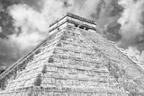 ¡Viva Mexico! B&W Collection - Chichen Itza Pyramid XIV
