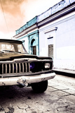 ¡Viva Mexico! Collection - Old Black Jeep and Colorful Street VIII