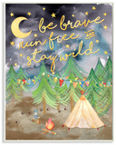Be Brave Camping Painting