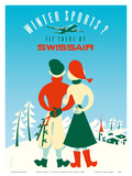 Winter Sports - Fly there by Swissair