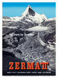 Zermatt  Switzerland - Matterhorn (Mont Cervin) - Swiss Alps - Fly there by SwissAir