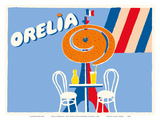 Orelia (Orangina) Beverage - Eifel Tower, Paris Reproduction d'art par Bernard Villemot