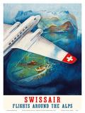 Flights around the Alps - Swissair