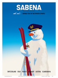 Sabena Brings You to The Winter Sports - Sabena Belgian World Airlines