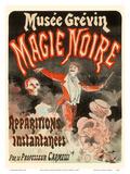 Black Magic (Magie Noire) - by Professor Carmelli - Instantaneous Apparitions Reproduction d'art par Jules Chéret