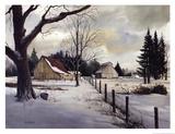 Snow Fields - Winter Barn