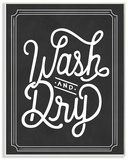 Wash and Dry Typography