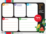Garden Heroes® Lunch Tray Dry Erase Menu Poster