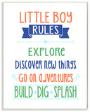 Little Boy Rules Build Dig Splash