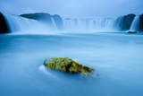 Long Exposure Of Godafoss Waterfall  Iceland