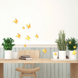 3D Butterflies - Yellow