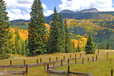 Old Wooden Fence and Autumn Colors in the San Juan Mountains of Colorado