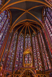 Stained Glass at Saint Chappelle Cathedral Paris  France