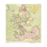 New Map of England and France  the French Invasion  1793