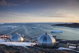 Greenland  Disko Bay  Ilulissat  Waterfront Igloo Houses