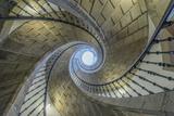 Spain  Santiago De Compostela  Triple Spiral Staircase