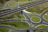 Roundabouts and Upper Harbour Motorway  Hobsonville  Auckland  North Island  New Zealand