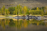 Autumn Reflections at Butchers Dam  Near Alexandra  Central Otago  South Island  New Zealand