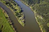Waikato River and Te Toki Island  Near Mercer  South Auckland  North Island  New Zealand