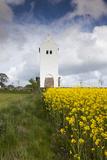 Denmark  Jutland  Oslos  Town Church with Rapeseed Field  Springtime