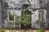 Vietnam  Dmz Area Quang Tri  Ruins of Long Hung Church Destroyed During Vietnam War in 1972