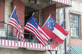 Georgia  Savannah  River Street  Flags