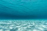 Underwater Photograph of a Textured Sandbar in Clear Blue Water Near Staniel Cay  Exuma  Bahamas