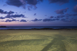 Spain  Canary Islands  Lanzarote  Arecife  Playa Del Reducto Beach  Dawn