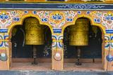 Prayer Wheel in the Chimi Lhakhang Monastery  Bhutan