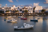Spain  Canary Islands  Lanzarote  Arecife  Charco De San Gines  Fishing Boats  Dawn