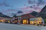 Dusk Light on Main Street in Ouray  Colorado  Usa