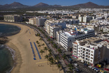 Spain  Canary Islands  Lanzarote  Arecife  Elevated City View Above Playa Del Reducto Beach
