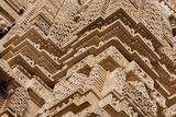 India  Khajuraho  Madhya Pradesh State Temple of Kandariya with a Profusion of Stone Carvings