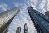 Qatar  Doha  Doha Bay  West Bay Skyscrapers  Dusk