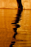 Utah Detail  Colorful Abstract Reflections  Sunrise Reflections Off Tapestry Wall on Lake Powell