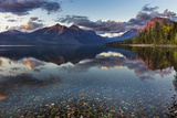 Sunset over Lake Mcdonald in Glacier National Park  Montana  Usa