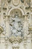 Spain  San Sebastian  Bas Relief over Door of Basilica of Saint Mary of the Chorus