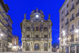 Spain  Pamplona  City Hall at Dawn