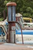 Old Trucks and Antique Gas Pump  Hennigar's Gas Station  Palouse Region of Eastern Washington