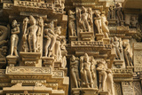 Erotic Sculptures of Khajuraho  Madhya Pradesh  India