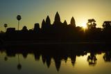 Sunrise over Angkor Wat  Angkor World Heritage Site  Siem Reap  Cambodia