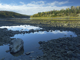 Rocky Shoreline of the Saint John River  New Brunswick