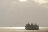Ferry Boats Crossing Elliott Bay from Seattle  Washington